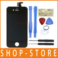 Free Shipping Replacement LCD Touch Screen Digitizer Glass Panel Assembly & Opening Tools for iPhone 4