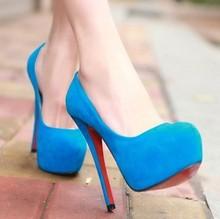 Pu barato fundo vermelho de salto alto sapatos de salto alto princesa saltos finos sensuais(China (Mainland))