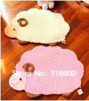 C4 Cute little sheep plush rose velvet anti-slip carpets for living room