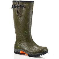 Natural rubber super slip-resistant male plus size boots gaotong waterproof rainboots hasp