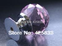 Free Shipping K9 Pink High Point Crystal Knobs Glass Dresser Knob Furniture Door Pulls