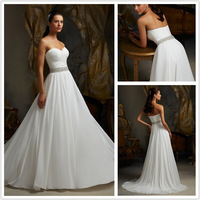 Promotion Sweetheart Sparkling Sequined Beading Couture A-line Organza Bridal Wedding Dress Wedding Gown