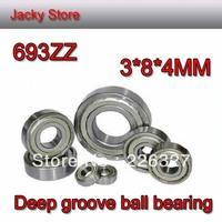 Free Shipping 20pcs/Lot High Quality 693ZZ 3X8X4 metric Miniture Shielded Deep Groove Ball Bearing