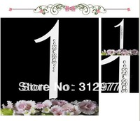 Free Shipping 1pcs/lots French Font in Part Crystal Stone Cake Topper Numbers for Birthday/Anniversary