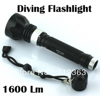 New Arrival, Hot Sale! Underwater Diving Flashlight Torch XML XM-L T6 LED Light Lamp 1600 LM Waterproof