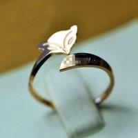 Fashion ring fox mohini pinky ring hot-selling rose gold titanium women's ring