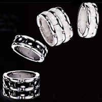 Fashion small black and white ceramic ring luxury single row double titanium ceramic lovers ring finger ring