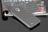 20PC/Lot DHL Free For Galaxy S4 I9500 Newest Aluminium Bumper  + Carbon Fiber  back Case  antiskid Fashion Design Top Quality