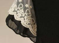 Lace short-sleeve dress  chandail  lululemon shorts