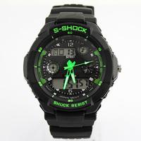 SKMEI Sports Watch For Men Brand Multifunction Digital Climbing Wristwatch,Shock Resistant 5AT Waterproof  PU Strap Watch