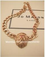 LION HEAD Statement NECKLACE Chunky Trendy Animal Necklace Rihanna's Style
