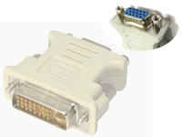 24+1 DVI Pin Male to 15 Pin VGA Female Convertor Adapter DVI-D