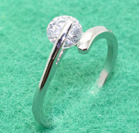 18K Gold Ring Lose Money Platinum Plated Ring Fashion Jewelry Factory Price Rhinestone MYPR003