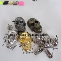 Free shipping 50pcs Rivet skull rivet belt screw rivet diy handmade materials 20% off for 6lot or more
