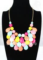 4pcs a lot For necklace female multicolour acrylic drop colnmnaris female chain candy color colorful