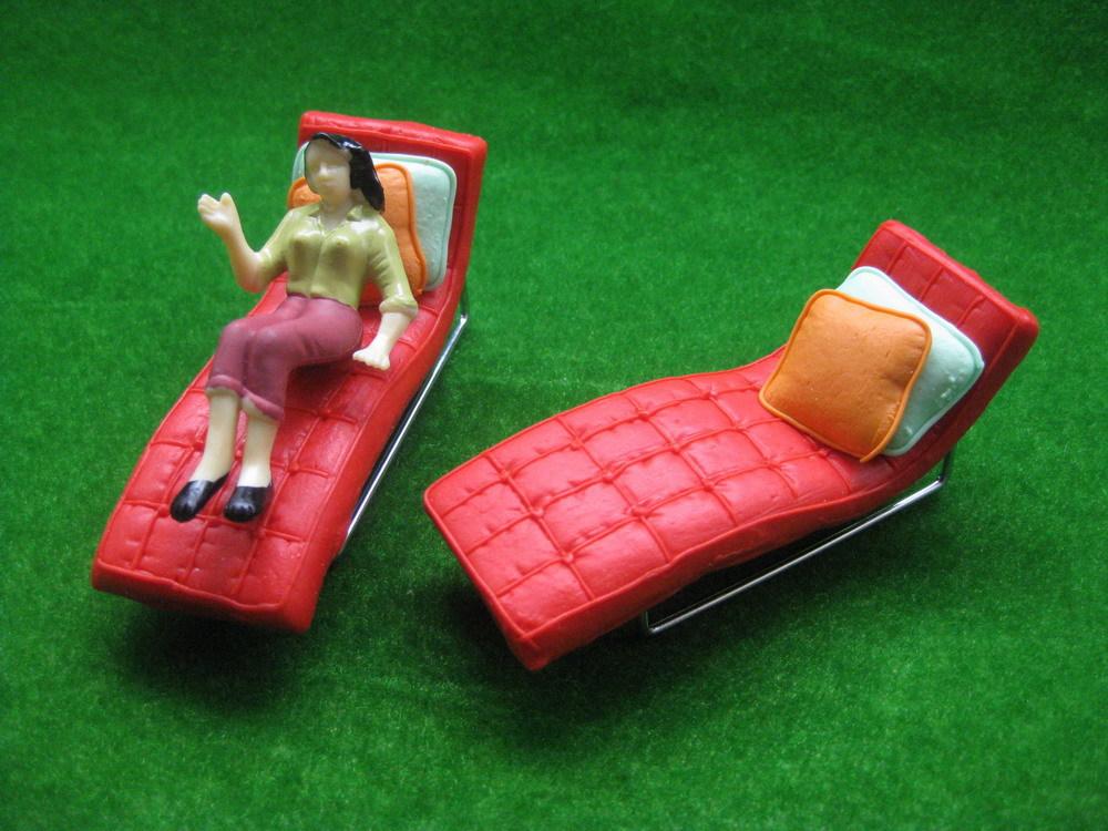 Cadeira de plataforma YZ2504 modelo Espreguiçadeiras 01:25 RED reclinável G Scale(China (Mainland))