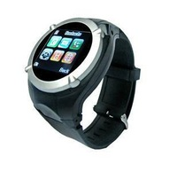 Watch mobile phone Quad-band GSM with bluetooth + 1.3 mega pixels camera + FM + MP3+ GPRS, MQ998