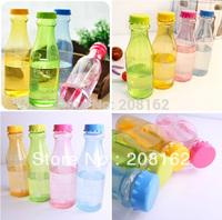 Portable Unbreakable Sports Water Bottles Sealed Cute Leakproof Plastic Drink Cups Glass 650ml