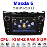 Car DVD For Mazda 6 Car PC Mazda6 Auto Multimedia GPS 1G CPU Auto Navigation 3G HD Display S100 DVR Audio Video Player EMS DHL