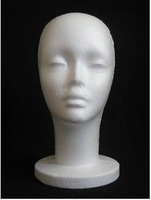 Mannequin Display Foam Female Mannequin Head Black For Hat,Hair,Headset,Microphone Display