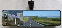 4.3 Inch Bluetooth Rear view Mirror with Built-in GPS 4GB load MAP+720P HD DVR+TF card+wireless reversing camera multi-language