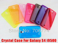 Transparent Clear Crystal case For Samsung Galaxy S4 I9500 200pcs/lot, with Free Shipping