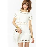 (BR-102)Free Shipping 2013 new fashion women Moonbeam Dress black white pink blue