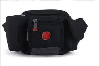 Men's Waist Pack Belt Bag Canvas Pouch Travel Hip Purse Black US High Quality