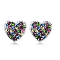 Crystal earring multicolour stud earring earrings sweet classic birthday gift girlfriend gifts pursing earring