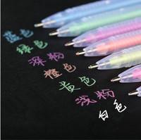 Diy photo album black paper neon pen colorful pen pastels, pen doodle pen marker pen 7