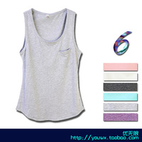 Loose pocket beach wear 7 male undershirt