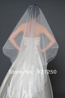 Free track delivery costs New Fashion Accessories 2 Tiers Waltz Length Wedding Bridal Veil