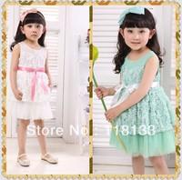 2013 new fashion baby girl dress kinds sleeveless Kids Dress summer exquisite girls dress rose petals Dresses