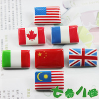 Quality cartoon Resin refrigerator stickers magnets whiteboard magnet flag national flag  Free Shipping wholesale