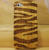 For Apple iPhone 5 Custom Printed for iPhone Case Pure Bamboo Cell Phone Case Wooden Protective Case Shell Wood Case