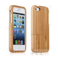 Phone Accessory for iPhone 5 Luxury Wooden Bamboo Case for Apple iPhone 5G Litght Yellow Original Carbonized Natural Bamboo