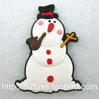 Kawaii 3D lifelike Refrigerator stickers magnets child gift smoking pipe snowman  for kids vivid decoration Free Shipping