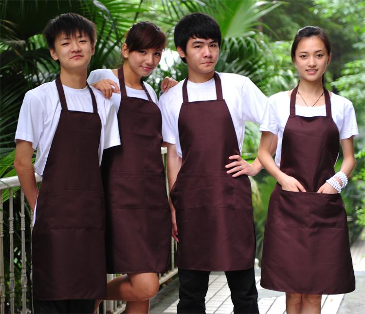 Apron customize beauty nail art apron oversleeps bandanas piece set printing logo(China (Mainland))