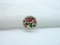 10pcs 12mm Handmade Photo Glass Cabochons(Flower) GB14-24