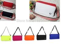 Fashion man women small messenger bag canvas cotton cross body waist bag chest british style solid multi colors promotion bag