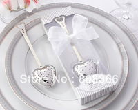 Free shipping 24pcs/lot Practical Wedding gift Tea Time Heart Tea Infuser in Elegant Gift Box For kitchen favors and wedding