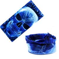 Free shipping Seamless magic bandanas skull mask flame skull masks ride mask bicycle bandanas