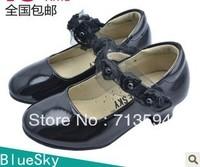 Bluesky child leather child leather genuine leather children shoes female child leather princess shoes 9958