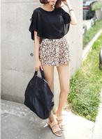 2013 summer loose elastic waist small shorts