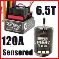 X-racing 120A ESC Controller 6.5T 5150KV Sensored Brushless Motor Combo RC Car