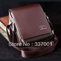 Genuine leather men's business casual leather shoulder inclined shoulder bag cross section L M L, M, S # S vertical model