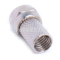 Free Shipping 10pcs Screw-On F Connector Plug for RG6 Coaxial Cable