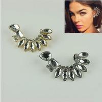 #150 Free Shipping Fashion Exaggerated Crystal Full Rhinestone Stud Earrings Ear Cuffs 12pcs/lot