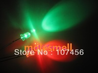 100pcs/lot free shipping!!! 5mm flashing red/green flash led LED(10000mcd)5mm blinking red/green led 5mm light-emitting diode
