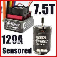 X-racing 120A ESC Combo Controller 7.5T 4530KV Sensored Brushless Motor Combo RC 1:10 Car
